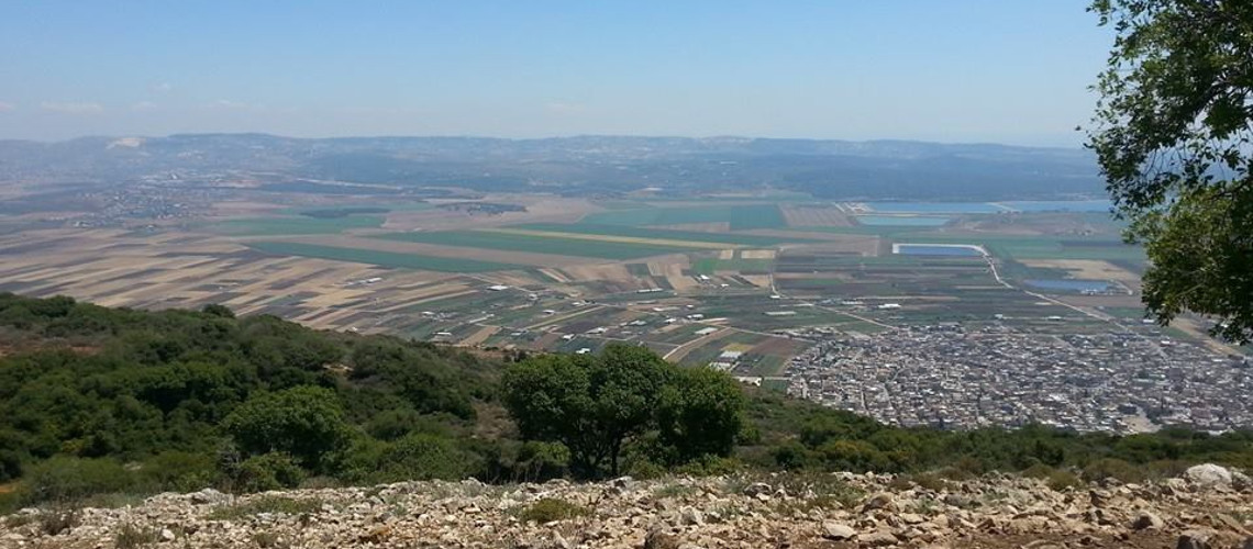 Beit Nerofa valeey and mount carmel - view from mount Atzmon