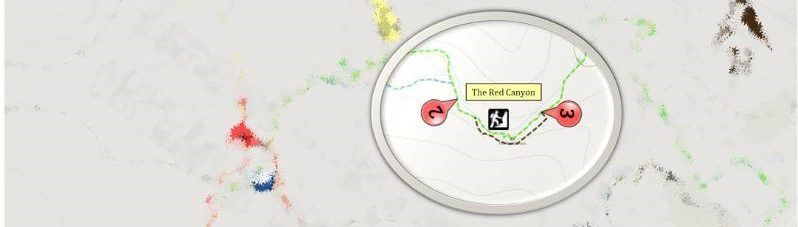 Red Canyon Hiking Map, Eilat, Irsael