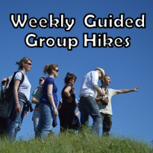 Regular weekly guided group hikes