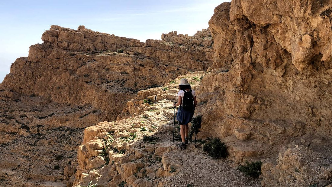 Hiking above Ein Gedi
