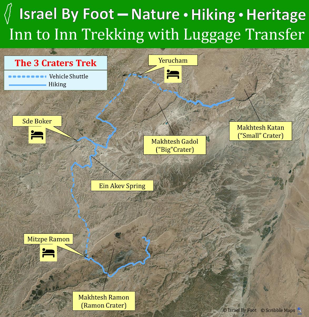 Negev Desert Trek - Inn to Inn 5 Days Trek (Ein Akev / Makhtesh Ramon)