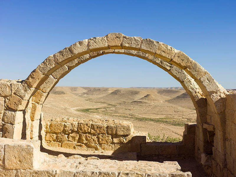 The Negev highlands viewed from Avdat ruins