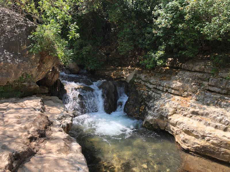 Waterfall in Nahal Kziv