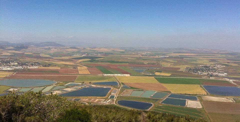 Jeezrael Valley from mount Gilboa Summit
