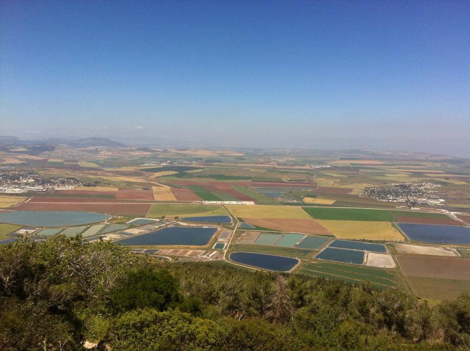 Jeezrael Valley from mount Gilboa Summit