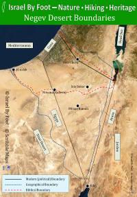 Negev Desert Boundaries Map