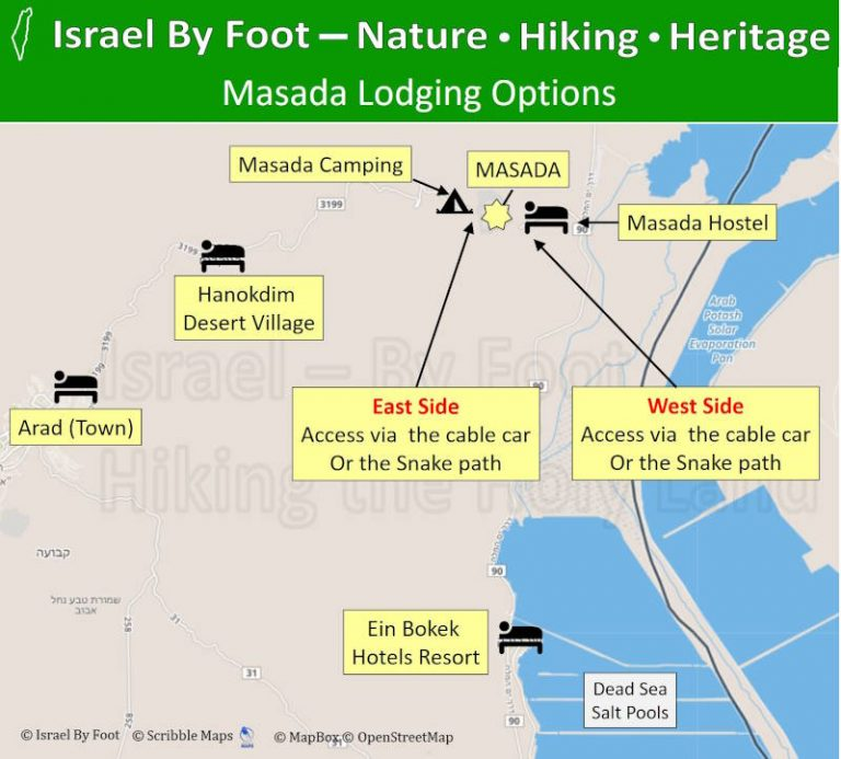 Masada Accommodations Map