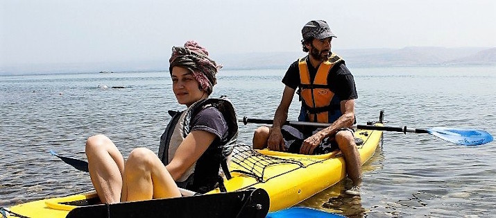 Kayaking tour in the sea of galilee