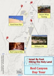 Red canyon guided tour map