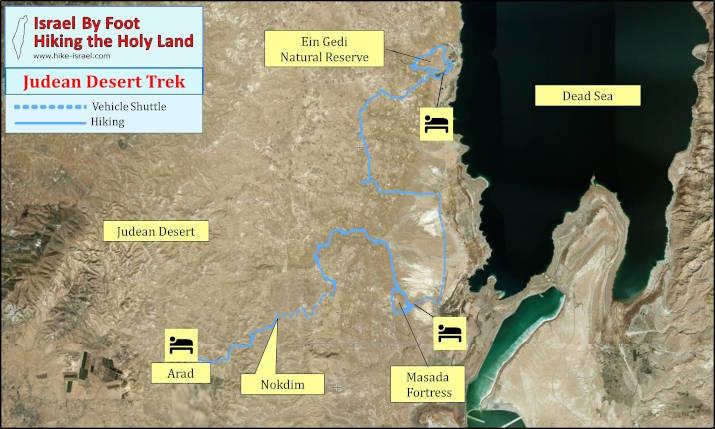 Judean Desert trek map