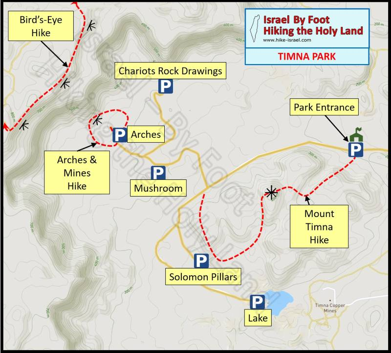 Timna Park Map