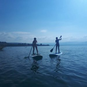 Stand up paddling in the sea of galilee
